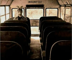 dark, grunge, and bus image