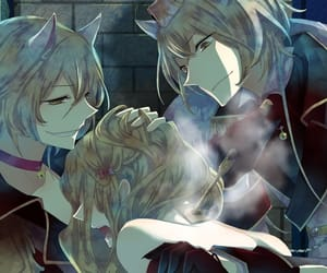 anime art, otome game, and black wolves song image