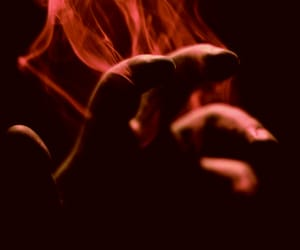 smoke, hand, and grunge image