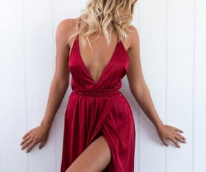 prom dress, prom dresses backless, and prom dresses red image