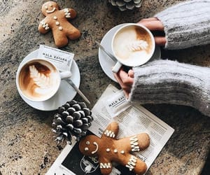 coffee, christmas, and winter image