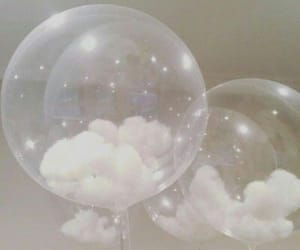 aesthetic, clouds, and balloons image