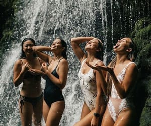 waterfall and friends image