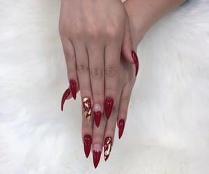 girl, gold, and hands image