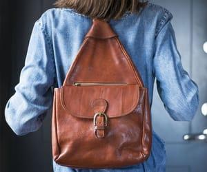 etsy, vintage backpack, and commuter backpack image