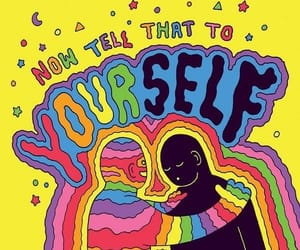 colors, rainbow, and self love image