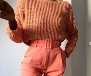 outfit, trend, and coral colors image
