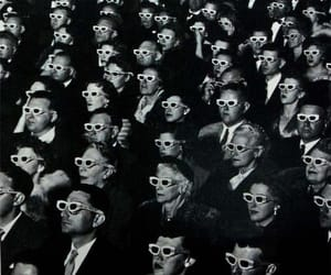 cinema, black and white, and 3d image