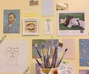 art, Brushes, and yellow image