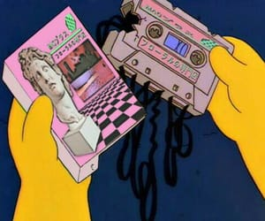 vaporwave, simpsons, and aesthetic image