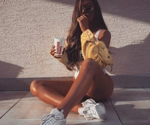 clothes, girls, and sneakers image