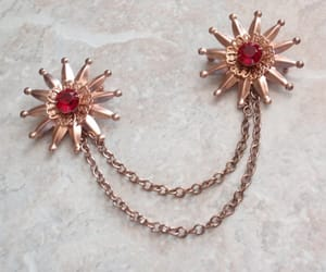 costume jewelry, etsy, and floral flower image