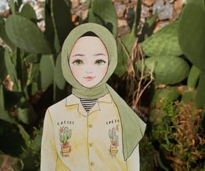 girl, الحجاب, and hijab image