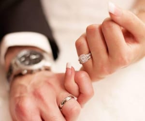 love, holding hands, and rings image