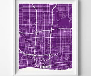 detroit, etsy, and home decor image