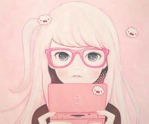 blush, geek, and draw image