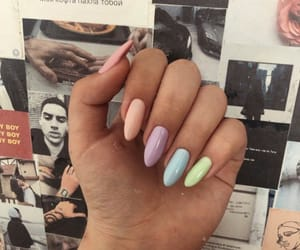 manicure, nails, and pale image