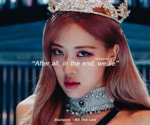 kpop, lisa, and Lyrics image