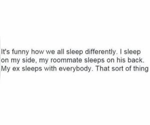 quotes, funny, and sleep image
