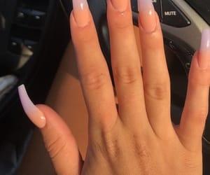 nails, acrylic, and long image