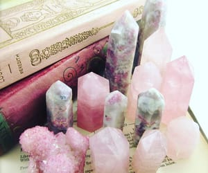 crystals, pink, and wicca image
