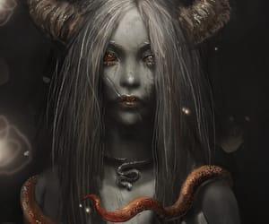 creepy, demonic, and macabre image