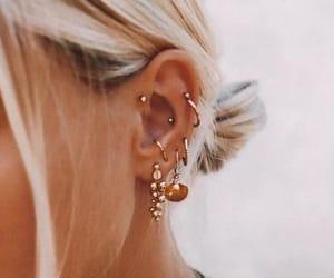 earrings, piercing, and jewelery image
