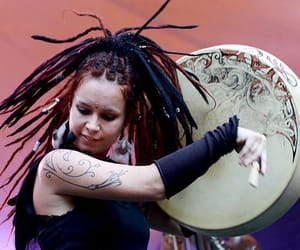 dreadlocks, dreads, and drum image
