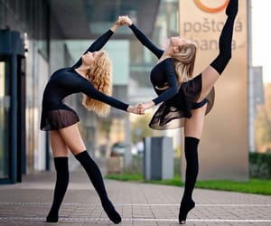 ballerinas, lovely, and dancers image