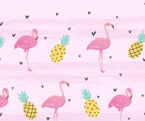 flamingo, pineapple, and pink image