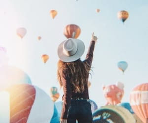 colourful, girl, and traveling image