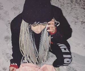 beautiful, girl, and silver hair image
