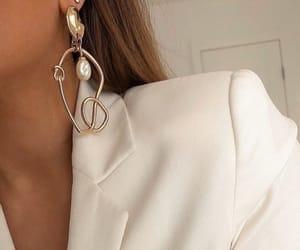 beauty, earring, and earrings image