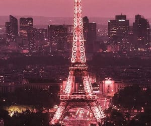 background, citylights, and eiffel tower image
