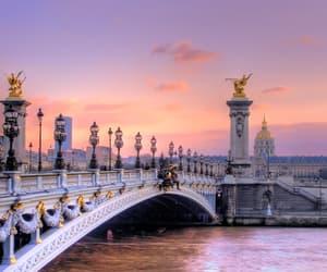 paris, bridge, and city image