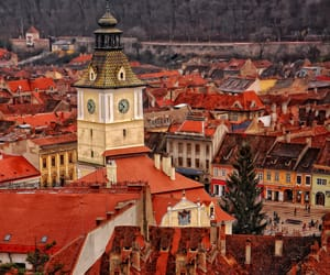 red, roofs, and romania image