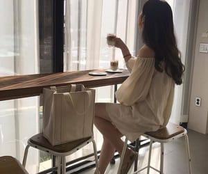 aesthetics, cafe, and kfashion image