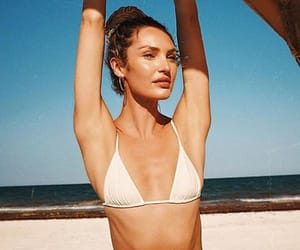 beach and candice swanepoel image
