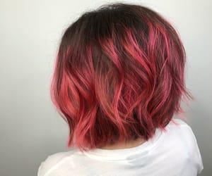 bob, cut, and pink hair image