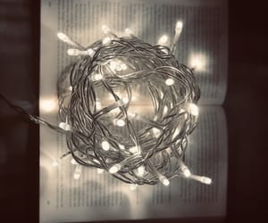 lights, reading, and book image