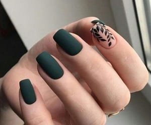 nails, girl, and green image