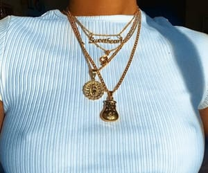 chains, fashion, and gold image