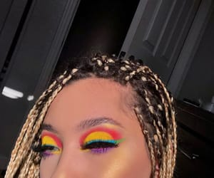 colorful, eyeshadow, and lashes image