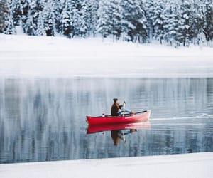 agua, reflejo, and invierno image