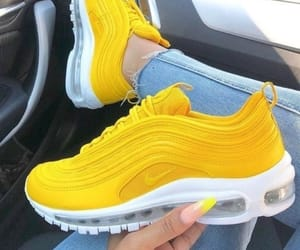 yellow, shoes, and nike image