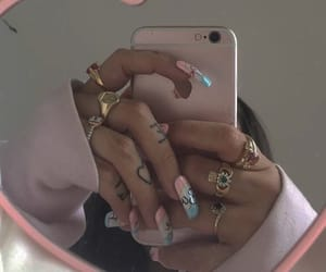 aesthetic, pink, and bling image