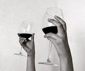 wine, black and white, and tumblr image