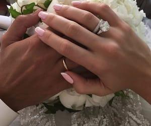 couple, ring, and wedding image