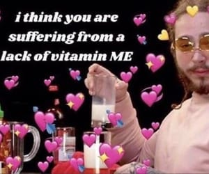 meme, post malone, and hearts image