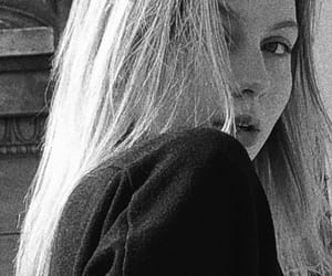 aesthetic, black and white, and blonde image